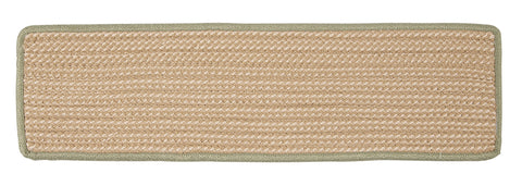 Boat House Indoor Outdoor Rectangle Braided Stair Tread, BT69 Olive Green