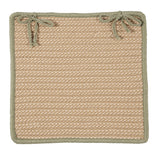 Boat House Indoor Outdoor Square Braided Chair Pad, BT69 Tan & Olive Green