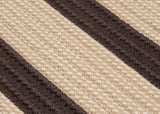 Boat House Indoor Outdoor Braided Rectangle Rug, BT89 Tan & Brown