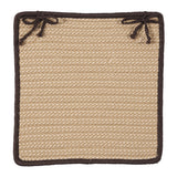 Boat House Indoor Outdoor Square Braided Chair Pad, BT89 Tan & Brown