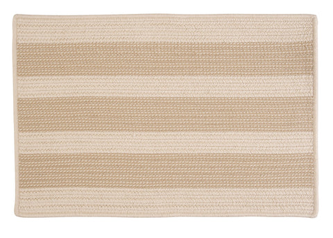 Boat House Indoor Outdoor Braided Rectangle Rug, BT99 Tan & Natural