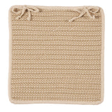 Boat House Indoor Outdoor Square Braided Chair Pad, BT99 Tan & Natural