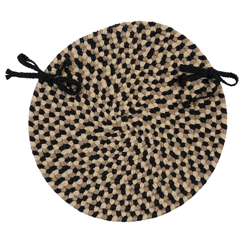 The Colonist Indoor Outdoor Round Braided Chair Pad, BU95 Neutral Tone