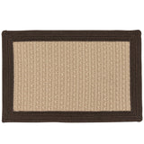 Bayswater Indoor Outdoor Braided Rectangle Rug, BY03 Brown