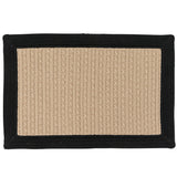 Bayswater Indoor Outdoor Braided Rectangle Rug, BY13 Natural with Black Border