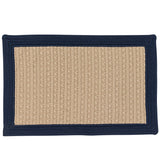 Bayswater Indoor Outdoor Braided Rectangle Rug, BY53 Navy Blue