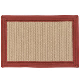 Bayswater Indoor Outdoor Braided Rectangle Rug, BY73 Natural with Brick Border