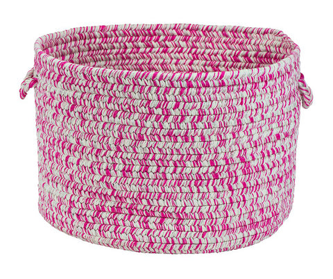 Catalina Indoor Outdoor Round Braided Utility Storage Basket, CA09 Magenta
