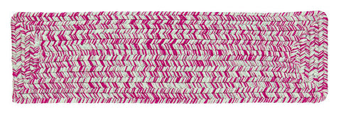 Catalina Indoor Outdoor Rectangle Braided Stair Tread, CA09 Magenta