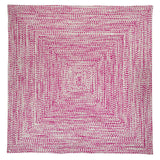 Catalina Indoor Outdoor Square Braided Rug, CA09 Magenta