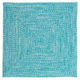 Catalina Indoor Outdoor Square Braided Rug, CA19 Aquatic