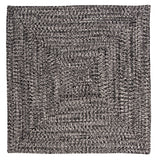 Catalina Indoor Outdoor Square Braided Rug, CA29 Blacktop