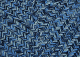 Catalina Indoor Outdoor Square Braided Rug, CA59 Blue Wave