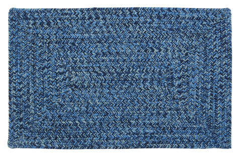Catalina Indoor Outdoor Rectangle Braided Rug, CA59 Blue Wave
