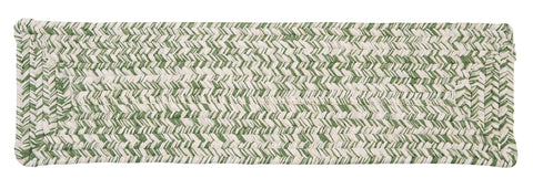 Catalina Indoor Outdoor Rectangle Braided Stair Tread, CA69 Greenery