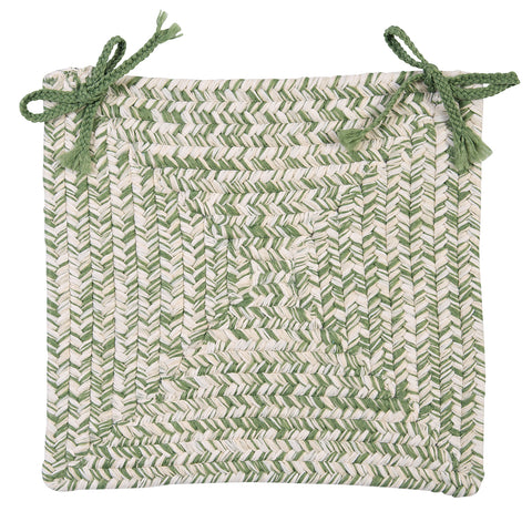 Catalina Indoor Outdoor Braided Square Chair Pad, CA69 Greenery