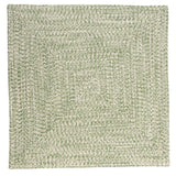 Catalina Indoor Outdoor Square Braided Rug, CA69 Greenery