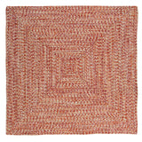 Catalina Indoor Outdoor Square Braided Rug, CA79 Fireball
