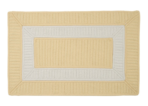 Rope Walk Indoor Outdoor Braided Rectangle Rug, CB90 Yellow