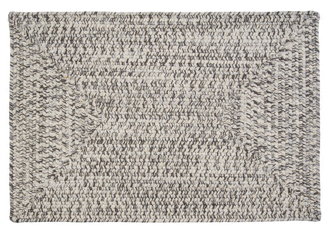 Corsica Indoor Outdoor Rectangle Braided Rug, CC19 Silver Shimmer