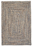 Corsica Indoor Outdoor Rectangle Braided Rug, CC49 Lake Blue
