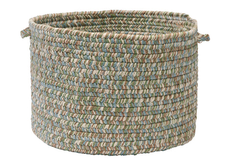 Corsica Indoor Outdoor Round Braided Utility Storage Basket, CC59 Seagrass
