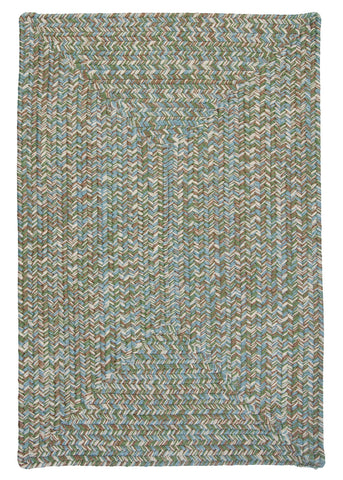 Corsica Indoor Outdoor Rectangle Braided Rug, CC59 Seagrass