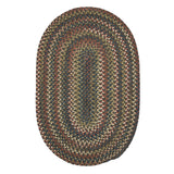 Cedar Cove Nylon Blend Oval Braided Rug, CV19 Gray