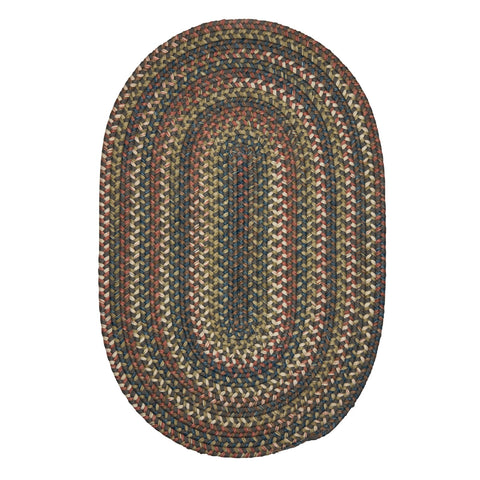 Cedar Cove Oval Braided Rug, CV19 Gray