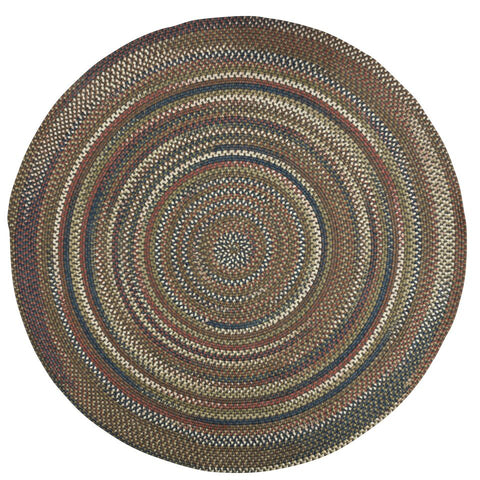 Cedar Cove Nylon Blend Round Braided Rug, CV19 Gray