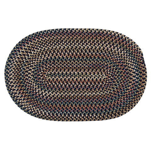 Cedar Cove Nylon Blend Oval Braided Rug, CV59 Navy