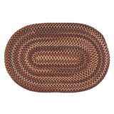 Cedar Cove Nylon Blend Oval Braided Rug, CV79 Rust