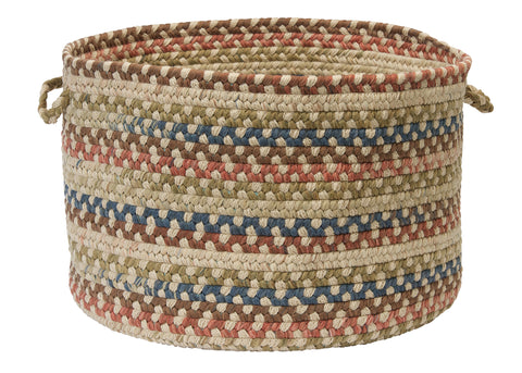 Cedar Cove Round Braided Basket, CV99 Natural