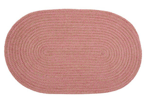 Softex Check Indoor Outdoor Oval Braided Rug, CX27 Camerum Pink & Tan