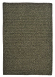 Courtyard Wool Blend Rectangle Braided Rug, CY51 Olive