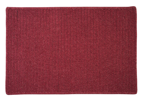 Courtyard Rectangle Braided Wool Blend Rug, CY54 Cedar