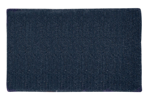 Courtyard Rectangle Braided Wool Blend Rug, CY60 India Ink