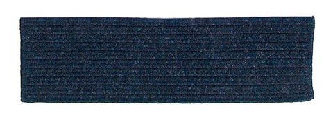 Courtyard Rectangle Braided Wool Blend Stair Tread, CY60 India Ink