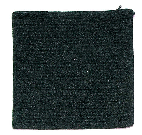 Courtyard Square Braided Wool Blend Chair Pad, CY61 Cypress Green