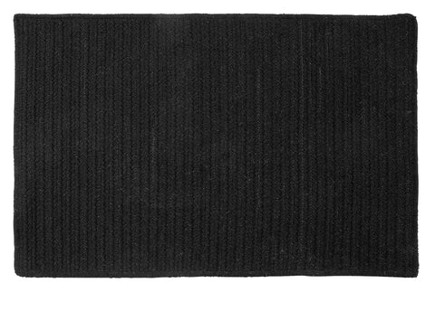 Courtyard Rectangle Braided Wool Blend Rug, CY65 Iron