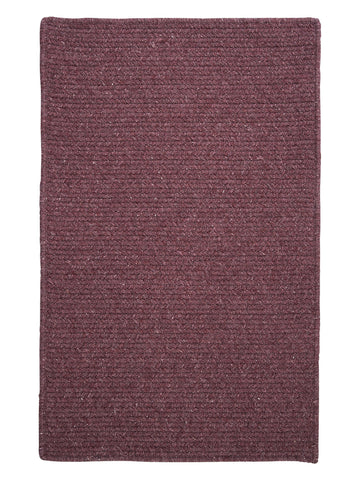 Courtyard Wool Blend Rectangle Braided Rug, CY66 Orchid