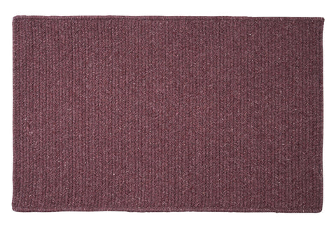Courtyard Rectangle Braided Wool Blend Rug, CY66 Orchid