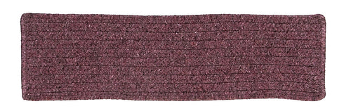 Courtyard Rectangle Braided Wool Blend Stair Tread, CY66 Orchid