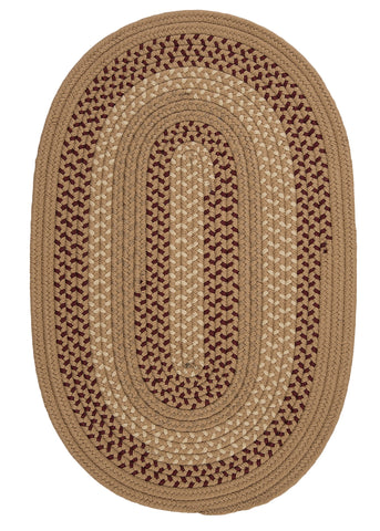 Deerfield Indoor Outdoor Oval Braided Rug, DF91 Taupe