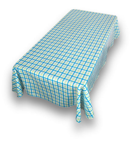 "Country Check Vinyl Tablecloth with Flannel Backing 52""x70"""