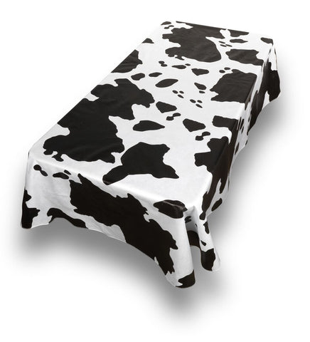 Moo Vinyl Tablecloth with Flannel Backing in 2 Sizes