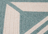 Sedona Rectangle Braided Wool Blend Rug, ED49 Teal