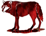 Elusive Wolf Metal Wall Art