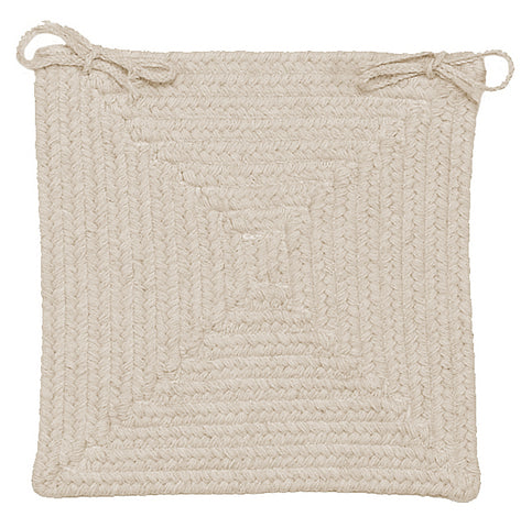 Shear Natural Square Braided Wool Chair Pad, EN30 Canvas