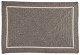 Shear Natural Rectangle Braided Wool Rug, EN32 Rockport Gray